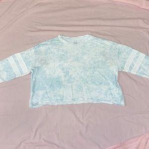 Hollister | Blue Acid Wash Crop Tee